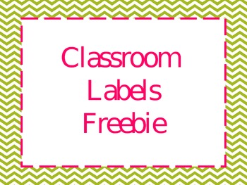 Chevron and Polkadot classroom labels-FREE :)