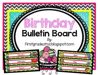 Chevron and Polkadots Birthday Board