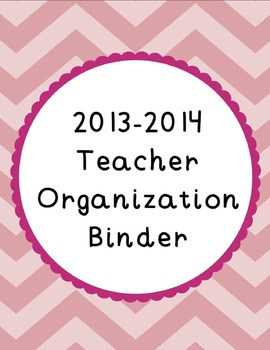 {Chevron and Scallops} 2014-2015 Organization Binder & Pla