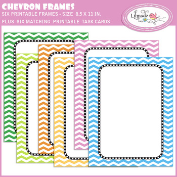 Editable PDF Page covers, chevron frames and task cards