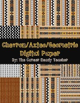 Chevron.Aztec.Geometric Digital Paper