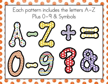 Chevrons and Dots: Bulletin Board Border and Letter Pack f