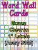 Chevrons and Dots: Frame, Cover Page, and Word Wall Cards Pack!