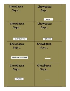 Chewbacca Says Visual Cues
