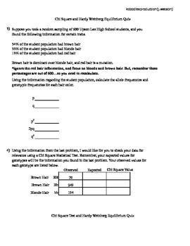 Chi Square Quiz