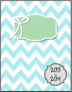 Chic Chevron Subject Binder Covers for Teachers!