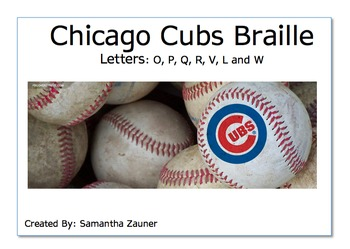 Chicago Cubs Braille Game