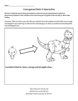 Chick-O-Saurus Rex: bullying, believe in yourself, helping