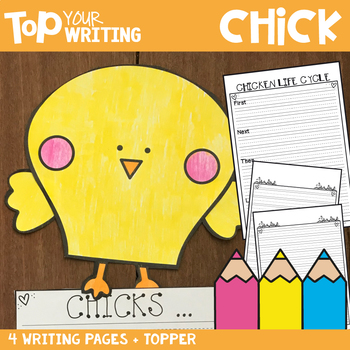 Chick Writing with Topper