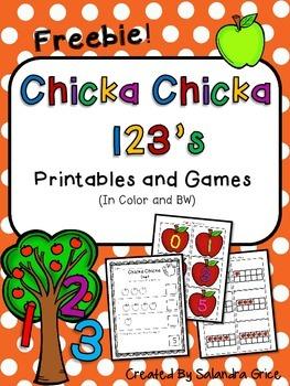 Chicka Chicka 123's- Freebie!