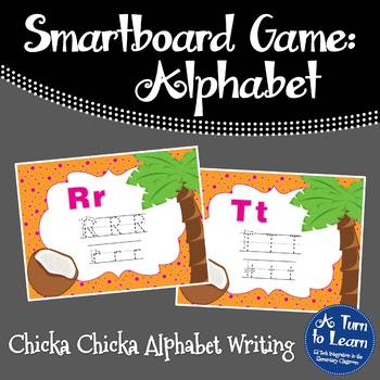 Chicka Chicka Boom Boom ABC Writing Game for Smartboard or