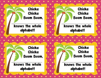 Chicka Chicka Boom Boom Alphabet Parent Note (Freebie)