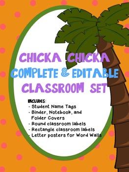 Chicka Chicka Boom Boom Theme Classroom *EDITABLE*