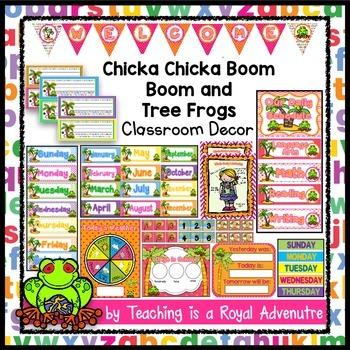 EDITABLE Chicka Chicka Boom Boom Classroom Decor (and Tree