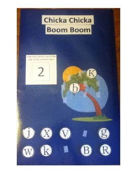 Chicka Chicka Boom Boom Letter and Number Activity Poster