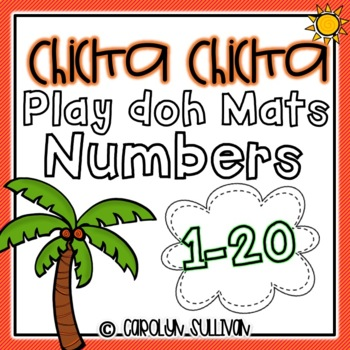 Chicka Chicka Boom Boom Play Doh Mats- Numbers 1-20