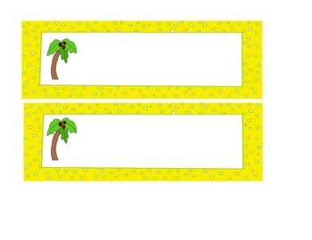 Chicka Chicka Boom Boom Printable Labels Tags Cards; 3 col