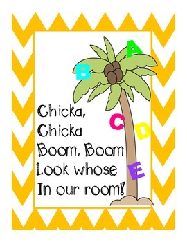 Chicka, Chicka Boom Boom primary writing book for the firs