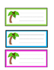 Chicka Chicka Boom Boom Counting Center 1-20 : Name Tags a