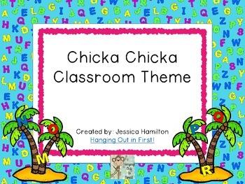 Chicka Chicka TOO Theme Decor - EDITABLE!