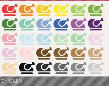 Chicken Digital Clipart, Chicken Graphics, Chicken PNG, Ra