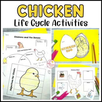 Chicken Life Cycle Spinner, Flip Books, Vocabulary Work an