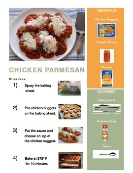 Chicken Parmesan Adapted Recipe & 2 Follow Up Worksheets!