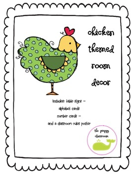 Chicken Themed Room Decor