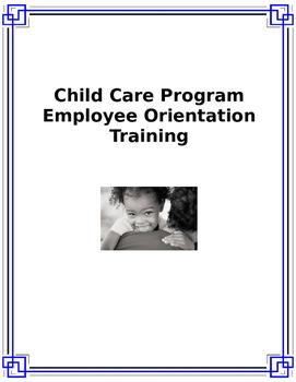 Child Care Program Employee Orientation Training