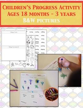 Child Progress Activity Set B&W (Priscilla Beth @ Daycare