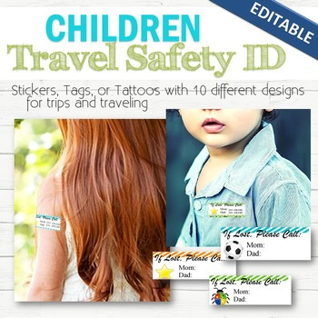 Child Safety ID Labels/Stickers/Tattoos