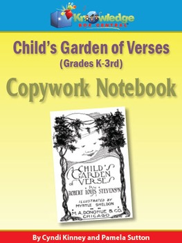 Child's Garden of Verses Copywork Notebook K-3rd