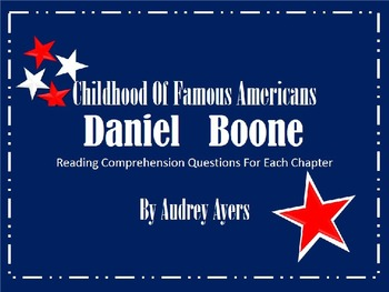 Childhood of Famous Americans: Daniel Boone, Book Study, R