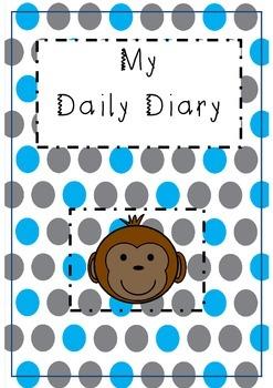Childminding 'my daily diary' - monkey design.