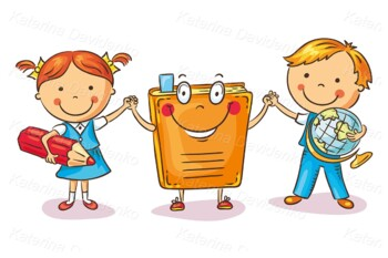 Children Holding Hands with a Book as a Symbol of Learning