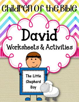 Children of the Bible Series. David. Worksheets. Activitie
