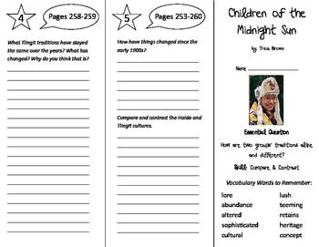 Children of the Midnight Sun Trifold - Journeys 6th Grade
