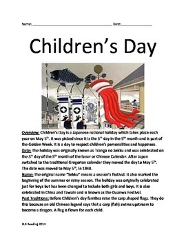 Childrens Day - Japan - Info Review Article Questions Voca