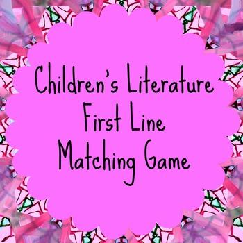Children's Literature First-Lines Matching Game