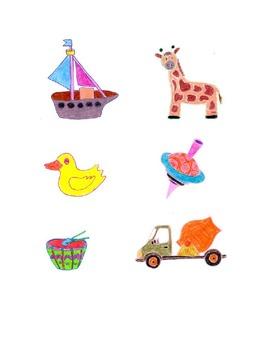 Children's Toys Colored Clip Art,giraffe,boat,truck,etc,Fo