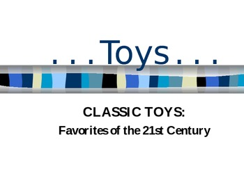 Children's Toys Power Point Presentation