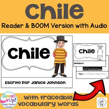 Chile Reader {en español} & Vocab pages ~ Simplified for L