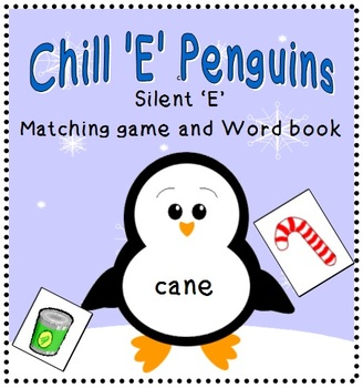 Winter Themed Phonics: Silent 'E' - Matching Game and Word