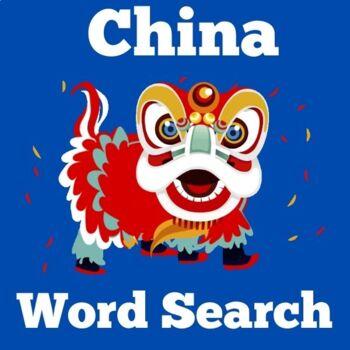 China Activity | China Word Search