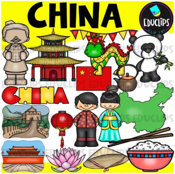 China Clip Art Bundle