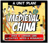 China Dynasties Unit Plan Bundle Sui, Tang, Song, Yuan (Mo