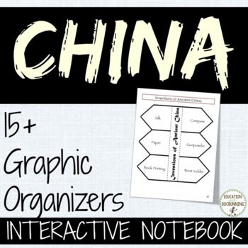 China Interactive Notebook graphic organizers for China unit