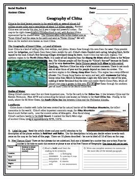 China map and reading