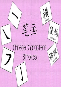 Chinese Characters Strokes Mini Flashcards