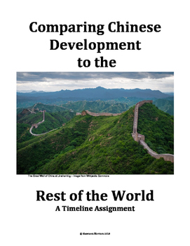 Chinese Development in Comparison to the World:  A Timelin